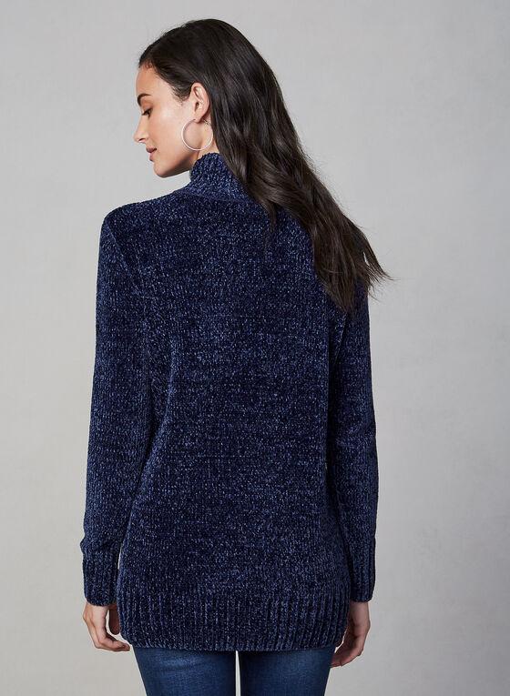 Chenille Turtleneck Sweater, Blue