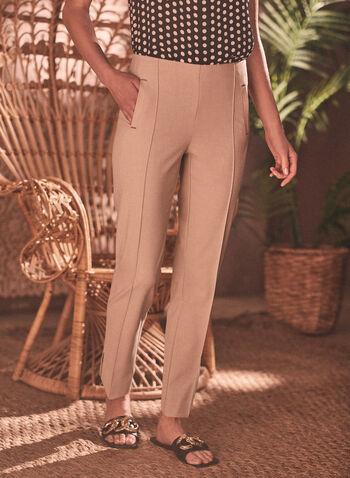 Amber High Rise Pants, Brown,  pants, amber, tailored pants, slim leg pants, ankle pants, high rise, comfortable, fall 2019, winter 2019, spring 2021