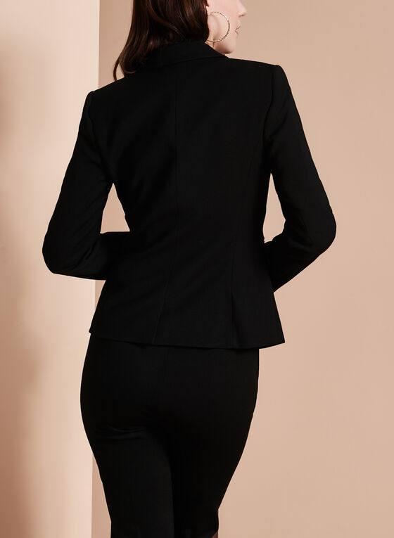 T Tahari - Notch Collar Blazer, Black, hi-res