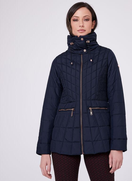 Novelti - Faux Down Packable Coat, Blue, hi-res