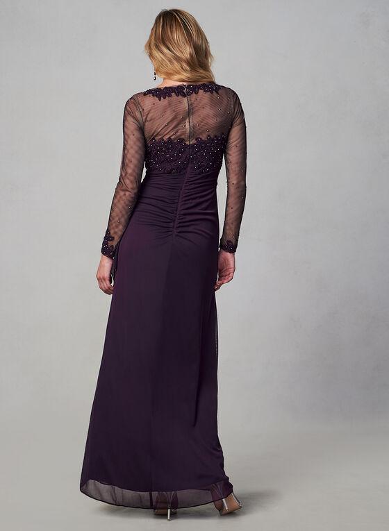 BA Nites - Long Sleeve Mesh Dress, Purple