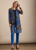 Tunique motif chaînes en maille filet, Bleu
