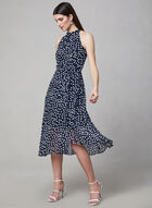 Sandra Darren - Polka Dot Print Dress, Blue, hi-res