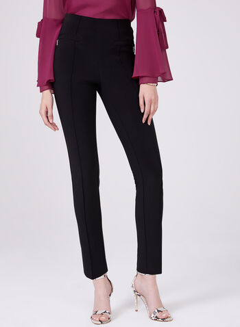 Joseph Ribkoff – Silky Tapered Pull On Pants, Black, hi-res,