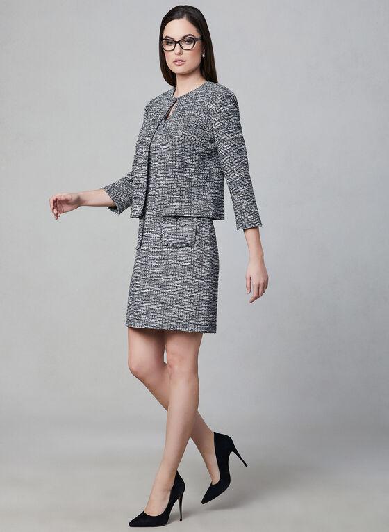 Karl Lagerfeld Paris - Blazer court en tweed, Noir