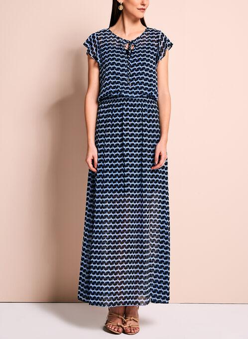 Maggy London Graphic Print Maxi Dress, Blue, hi-res