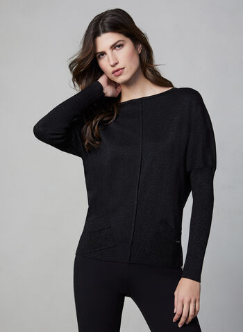 Vex - Drop Shoulder Sweater, Black, hi-res,  Vex, sweater, knit, long sleeves, drop shoulders, fall 2019, winter 2019