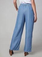 Carré Noir - Pantalon à jambe large aspect denim, Bleu, hi-res