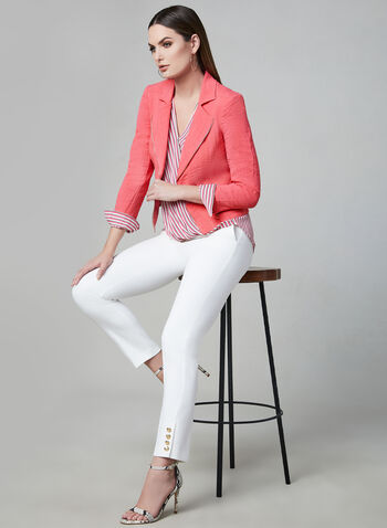 Vex - Zipper Trim Jacket, Pink, hi-res,  Vex, jacket, long sleeves, zipper trim, spring 2019