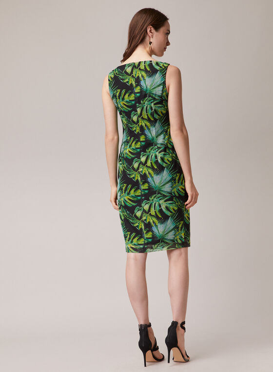 Joseph Ribkoff - Robe fourreau tropical, Noir