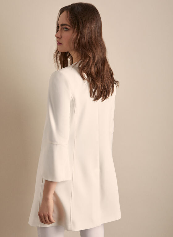 Tulip Sleeve Redingote, Off White