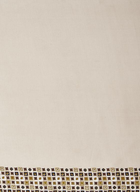 Foulard léger à motif mosaïque , Brun