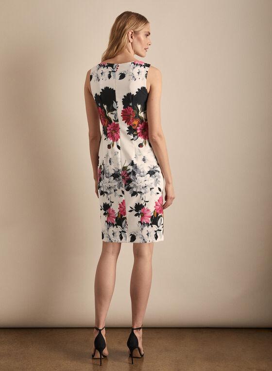 Joseph Ribkoff - Floral Print Flounce Detail Dress, White