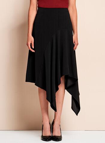 Crinkle Crepe Asymmetric Skirt, , hi-res