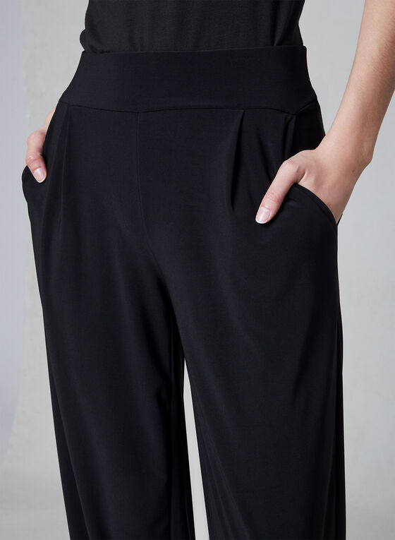 Jersey Harem Pants, Black