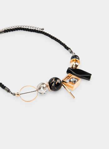 Short Cord Necklace  , Black, hi-res,  cord necklace, chunky bead inserts, fall 2019