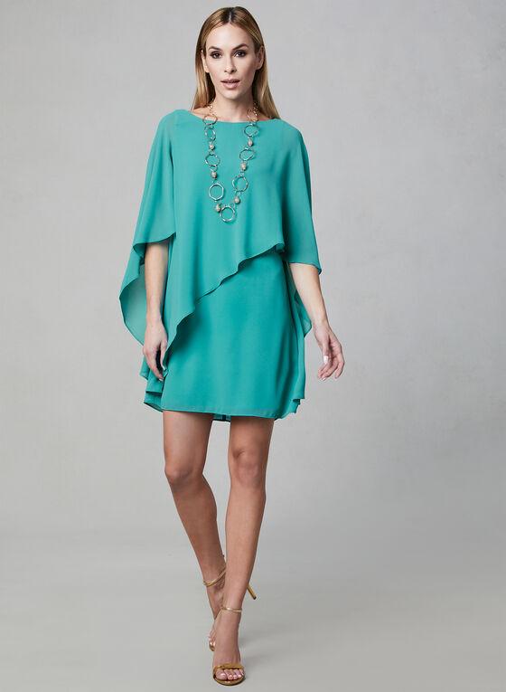 Vince Camuto - Chiffon Poncho Dress, Green, hi-res
