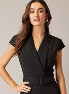 Robe tailleur à ceinture, Noir