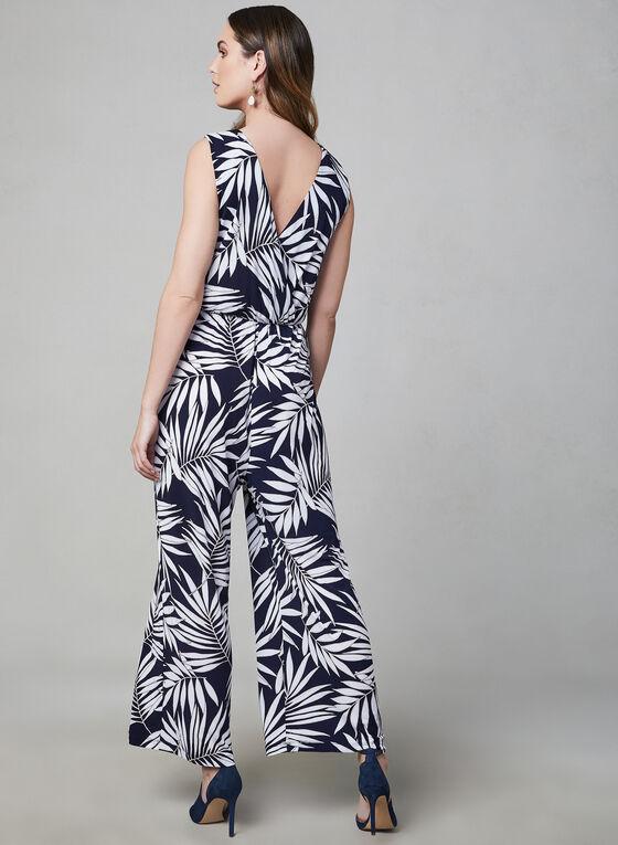 Sandra Darren - Combinaison à motif tropical, Bleu, hi-res