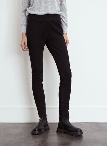 Yoga Jeans - Pull-On High Rise Denim, Black,  fall winter 2021, fall 2021, local, essential, jeans, denim, Yoga Jeans, Rachel, high rise, high waist, pull-on, elastic waist, slim leg, stretch denim, comfort, comfy