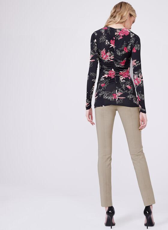 Floral Print Jersey Top , Multi, hi-res