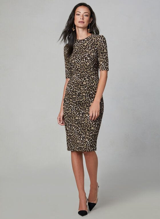Vince Camuto - Leopard Print Dress, Brown