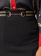 Joseph Ribkoff - Metallic Detail Skirt, Black