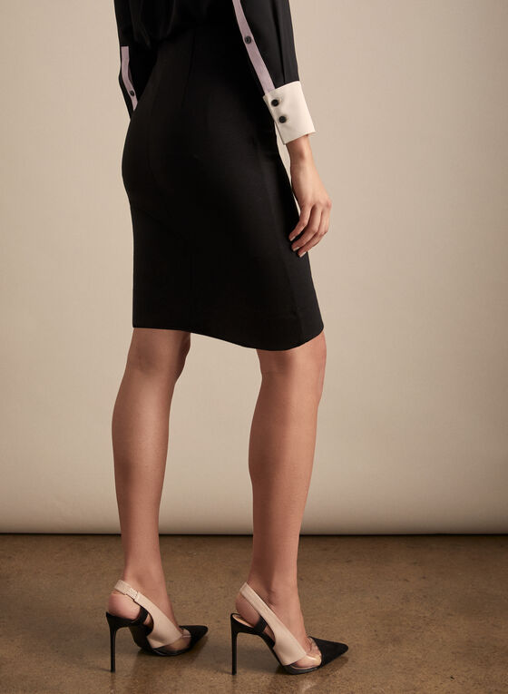Short Pencil Skirt, Black