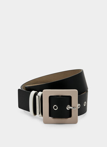 Vince Camuto - Faux Leather Belt, Black, hi-res