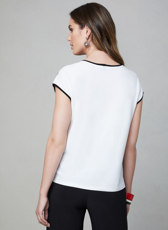 Contrast Detail Top, Off White