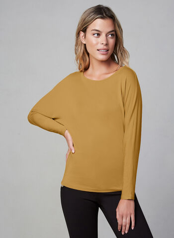 Dolman Sleeve Top , Gold, hi-res,  dolman sleeves, crew neck, Fall 2019, Winter 2019