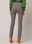 Pantalon jambe étroite à motif graphique, Noir