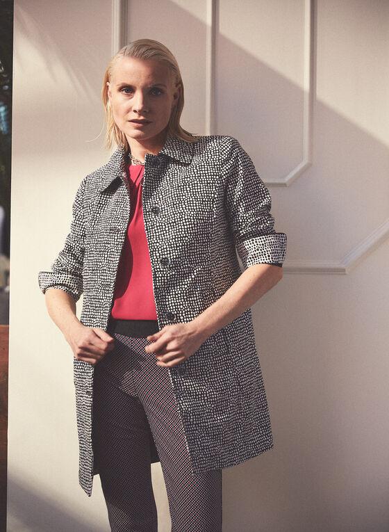 Novelti - Dotted Button-Up Coat, Black