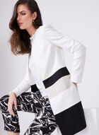 Long Edge-to-Edge Striped Blazer, Black, hi-res