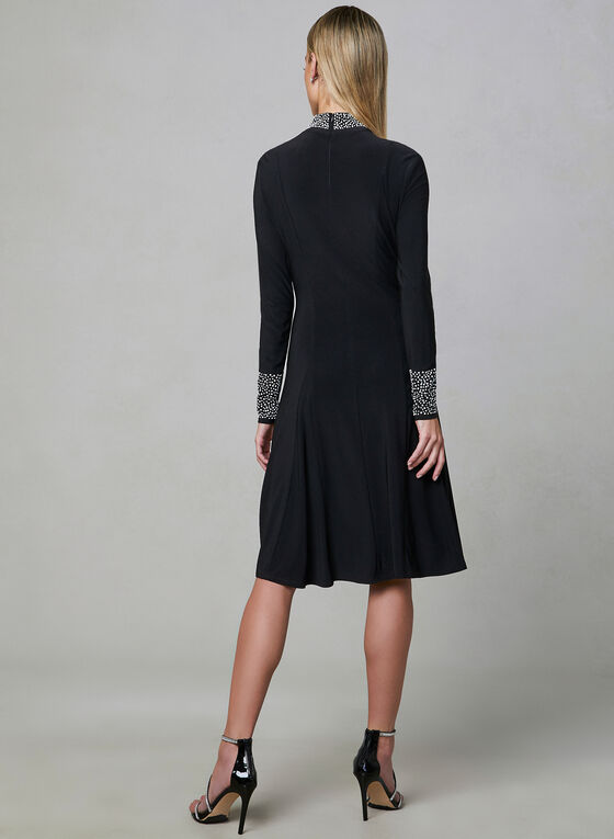 Frank Lyman - A-Line Jersey Dress, Black, hi-res