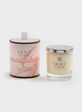 Grace Cole - Bougie parfumée Figue & Cèdre, Rose, hi-res