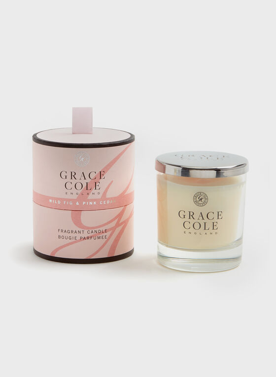 Grace Cole - Wild Fig & Pink Cedar Candle , Pink, hi-res
