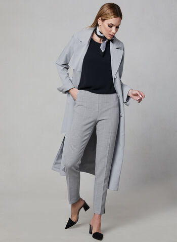 Novelti - Trench Coat, Grey, hi-res,  trench coat, belted, long sleeves, button down, pockets, spring 2019