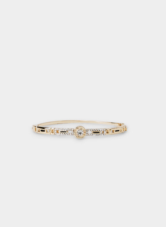 Hinge Bangle Bracelet , Gold