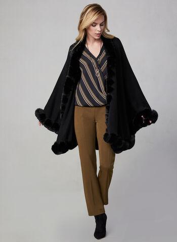 Pantalon à jambe étroite et détails métalliques, Brun,  à enfiler, pull-on, extensible, équestre, automne hiver 2019