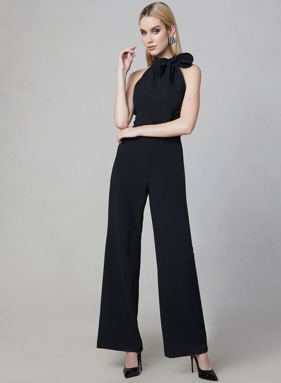 Vince Camuto - Bow Neck Jumpsuit, Black, hi-res