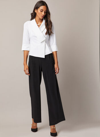 Joseph Ribkoff - Pull-On Gaucho Pants, Black,  pants, pull-on, high rise, wide leg, gaucho, fall winter 2020