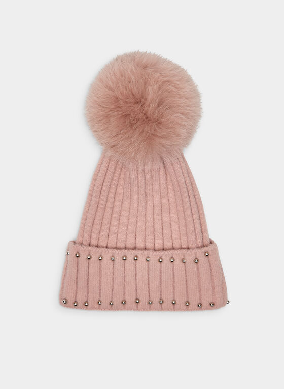 Beaded Tuque, Pink