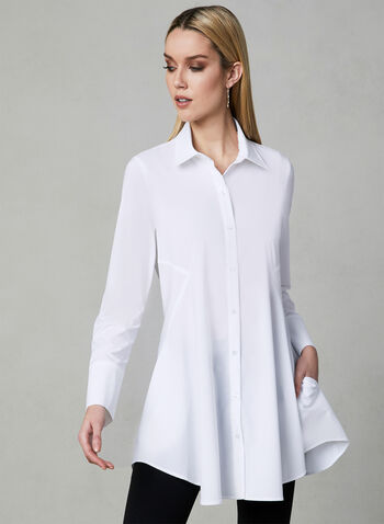 Joseph Ribkoff - Button Down Blouse, White, hi-res