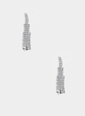 Crystal Dangle Earrings , Silver,  crystal, dangle, fall winter 2019