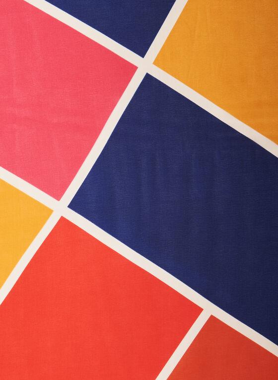 Oblong Geometric Print Scarf, Multi