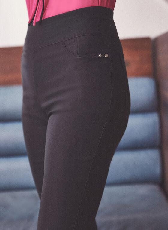 Capri pull-on à zip à l'ourlet, Noir