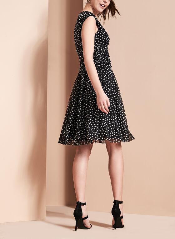 Maggy London - Polka Dot Dress, Black, hi-res