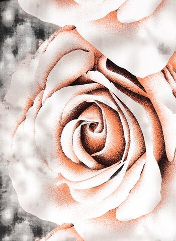 Floral Ink Wash Print Scarf, Pink, hi-res