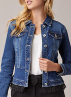 Lace Detail Denim Jacket, Blue